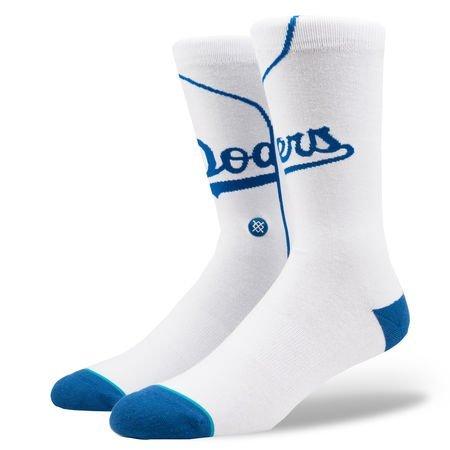 Stance Los Angeles Dodgers Home Jersey MLB Socken Weiß, M