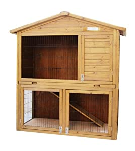 Primrose Double Outdoor Rabbit Guinea Pig Ferret Hutch from PRIMROSE