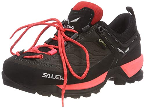 Salewa WS MTN Trainer GTX, Zapatillas de Senderismo para Mujer, Black out Rose Red 981, 38 EU