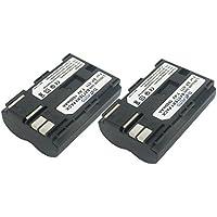 2 x Dot.Foto Batterie de qualité pour Canon BP-508, BP-511, BP-511A, BP-512, BP-514 - 7,4v / 1600mAh - Entièrement 100% compatibles - garantie de 2 ans [Pour la compatibilité voir la description]