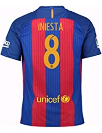 61e7d9da1771d 2016-17 Barcelona Sponsored Home Shirt (Iniesta 8) - Kids