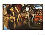 Kunstdruck 'Metamorphosis of Narcissus, 1937', von Salvador Dalí, Größe: 50 x 40 cm