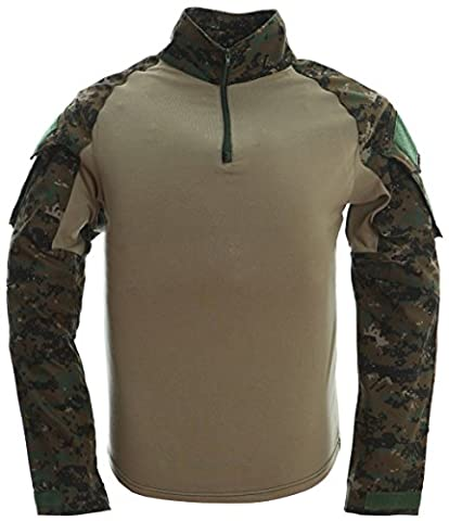 TACVASEN Outdoor Mens Sports Shirt Military Cotton Long Sleeve Shirts