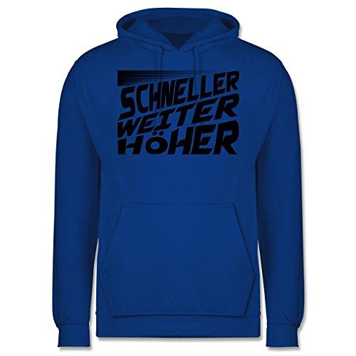 Sonstige Sportarten - Schneller, Höher, Weiter - Männer Premium Kapuzenpullover / Hoodie Royalblau