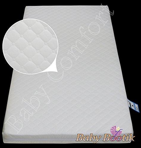 Baby Comfort - Lettino antibatterico per neonati, materasso in schiuma, 160 x 70 x 13 cm, imbottito, con cerniera, traspirante