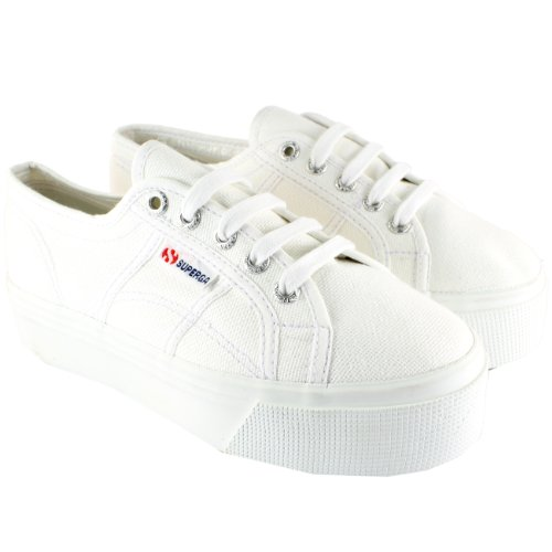 WOMENS SUPERGA FLATFORM 2790 CANVAS CHUNKY SOLE PLIMSOLL TRAINERS UK SIZES 3-8
