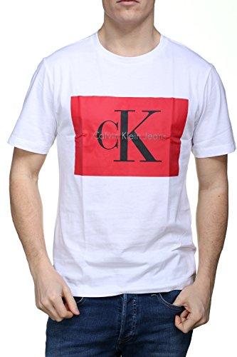 Calvin klein j30j307427 t-shirt mc uomo bianco xs