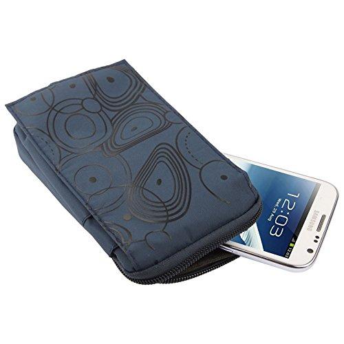 Wkae Case Cover 3-Schicht-Reißverschluss Tragetasche mit Karabiner-Haken für iPhone 6 Plus, Samsung Galaxy Note 5 / S7 / Alle 5,5-Zoll-Gerät ( SKU : S-SCS-4912DYB ) S-SCS-4912D