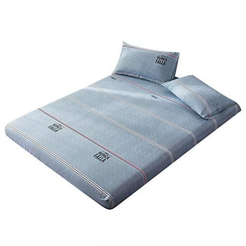 Cafopgrill Super weiches Mikrofaser-Bettlaken, bedrucktes Twin-Bettlaken aus Baumwolle mit Queen-Size-Bettbezug, maschinenwaschbar, beständig gegen Verblassen und Staubmilben(120X200cm) - Baumwolle Queen-size-matratze