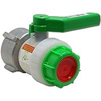 Stabilo-Sanitaer IBC Hahn DN50 ÜWM 55/60 mm S60x6 PE Kunststoff Kugelhahn Absperrhahn Zubehör für Tank Behälter