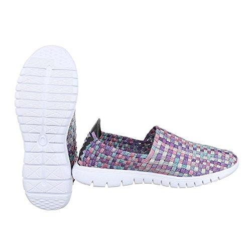 Ital-Design , chaussons d'intérieur femme Lila Multi DSC002-12