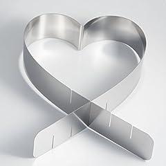 Idea Regalo - Cornice per torta a forma di cuore, struttura in acciaio inox - Qualità made in Germany, Acciaio INOX, 1 pezzo
