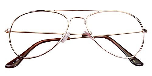 KINDOYO Kinder Jungen Mädchen Vintage Pilotenbrille Metallrahmen Nerdbrille Sonnenbrille Retro...