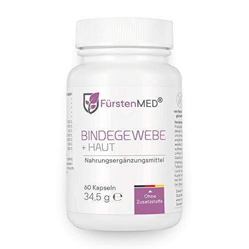 FürstenMED® Bindegewebe Kapseln + Straffe Haut - Anti Cellulite Orangenhaut - Hochdosiert mit OPC, Kieselgur, Ala, Biotin, Zink uvm. Vegan & Ohne Zusatzstoffe
