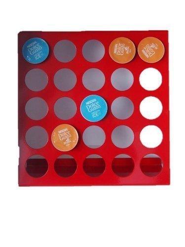 Tischboard , Wandboard für Dolce Gusto Kapseln, Edelstahl, Halterung in Farbe rot für Kaffekapseln von James Premium®