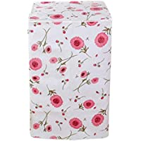 Vosarea Schutzbezug für Waschmaschine, Frontlader für Waschmaschine, Wasserdicht, 56 x 60 x 82 cm (Blumenmotiv)
