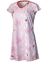 Damen Nachthemd Damen Pyjama Damen Sleepshirt Damen Schlafshirt Schlafhemd aus 100% Baumwolle Gr. S M L XL