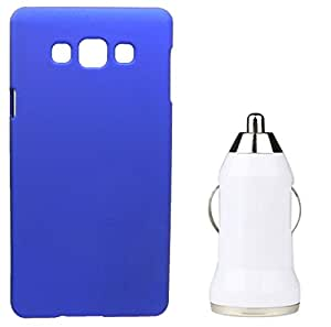 Toppings Hard Case Cover With Car Charger For Samsung Galaxy Grand Prime - Blue