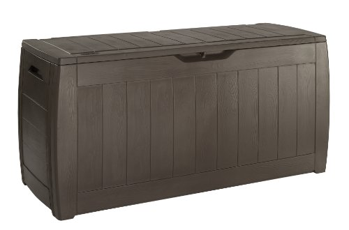 Keter 17191974 Kissenbox Hollywood Box 270L Holzoptik, Kunststoff, braun
