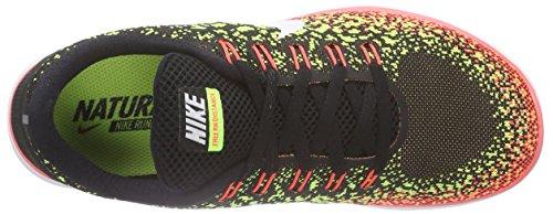 Nike Free Rn Distance, Chaussures de Course Femme Noir - Schwarz (Black/White-Volt-Hot Lava 017)