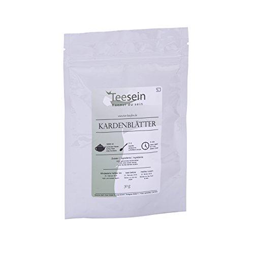 Karde Tee von TEESEIN® | 30 Gramm | Schonend getrocknete Blätter mit vollem Wirkstoffgehalt | Superfood in Premium Qualität