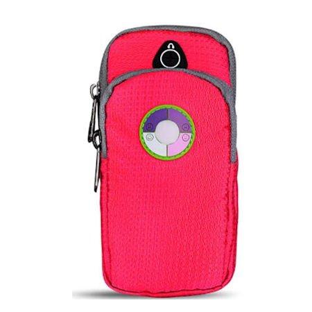 smartec24® Sportarmband für iPhone 7 in schwarz Wasserresistente Armtasche extra comfortabel zu tragen mit Flex-Verschluss und Öffnung für Kopfhöreranschlüsse für jede Armstärke sowie Unterarm und Obe iPhone 7 pink