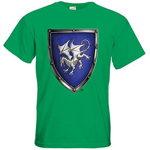getshirts - Das Schwarze Auge - T-Shirt - Die Siebenwindküste - Wappen - Windhag Kelly Green