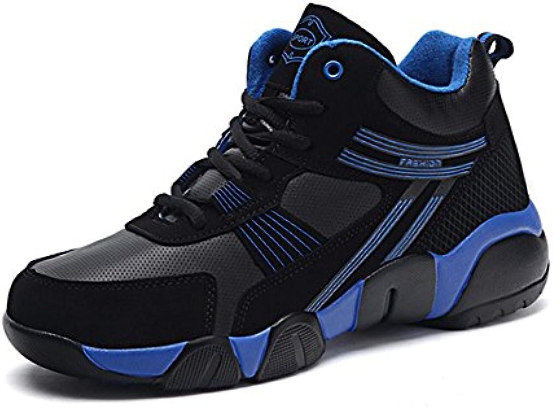 Zapatillas Zapatos Hombres Casual Corriendo Deportes Pareja Calentar Otoño Invierno Terciopelo Al aire libre Grande... -