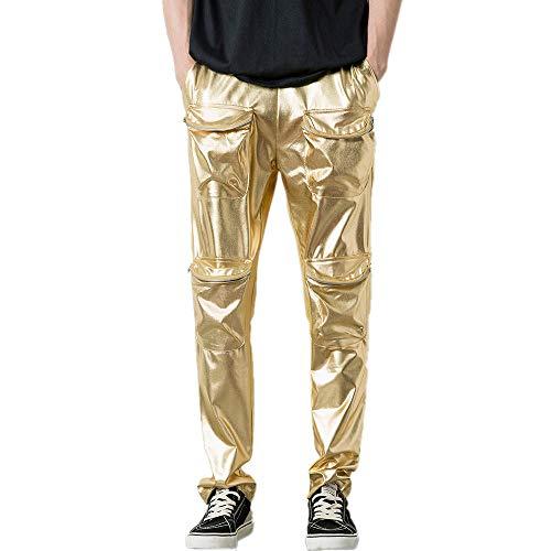 MA87 Herren Herbstsieger Hip-Hop Reine Farbe Fitness Casual Pocket Sporthose