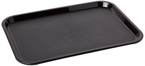 Kristallon P501 Foodservice Tray, Kristal Lon Plastic, Medium, Black