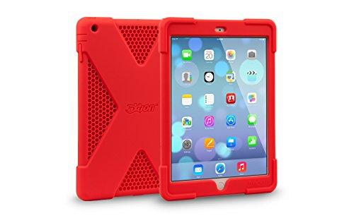 The Joy Factory aXtion Edge CWA208 Schutzhülle für iPad Air, sehr dünn, Silikon, Rot Pc New Factory