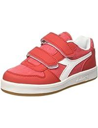 Diadora Game P TD, Sneaker Bambino, Bianco (Biancorosso Carminio), 24.5 EU