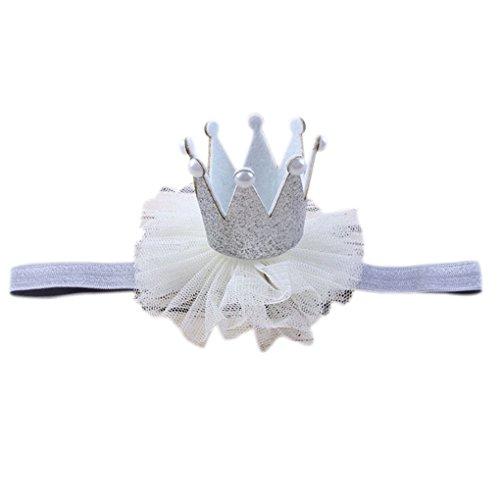 (forbestest Neugeborene Glitter Princess Stirnband Baby Fotografie Geburtstag Haarband Wrap Foto Prop Infant Headwear Licht und Komfortabel)