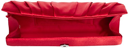 Paco Mena Basic 99630 Clutch Damen 26x12x5 Cm (bxhxt) Rot (rot 07)
