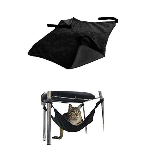 ASOSMOS Haustier Katze Kätzchen Hängematte Totoro Hänge Hängesessel Bett Tischbein für Welpe Ratte Frettchen Kaninchen (Schwarz)