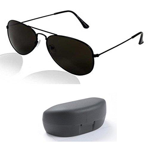 Combo Set Offer of 3 UV Protecting Aviator Sunglasses for Boys Girls (BlackBlack HalfBlack SilverMercury)