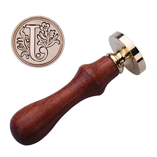 Jeeke Wachs Siegel Stempel, Alphabet, Retro Classic Creative Romantische Stempel Maker Buchstabe Wachssiegel, A bis Z, J, 0.98 x 3.54 inch (Buchstaben X Stempel)