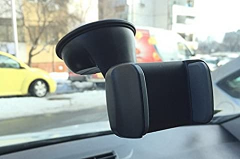 Mobile Phone Holder SILICONE SUCTION CUP fit iPhone Samsung Sony Nokia LG Window Windscreen Car Mount