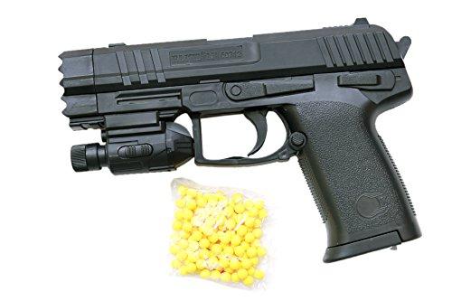 SuperToy Air Sport Laser Kids Toy Gun With Red Laser & Blue Light Pistol With 6 Mm 100 Bullets