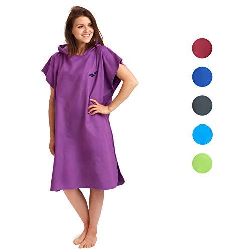 Fit-Flip Poncho Surf Hombres Mujeres Color: púrpura