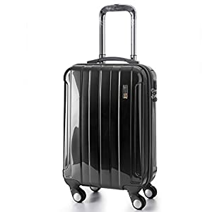 """5 Cities® Lightweight Hard shell Travel Luggage Suitcase- 4 Wheel Spinner Trolley Bag 21"""" Fits 55x40x20cm, 26"""" 63x48x28cm, 29"""" 73x56x32cm (5 Years Guarantee)"""