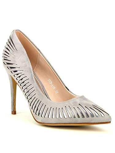 Cendriyon, Escarpin Gris SILAKA MODA Chaussures Femme Gris