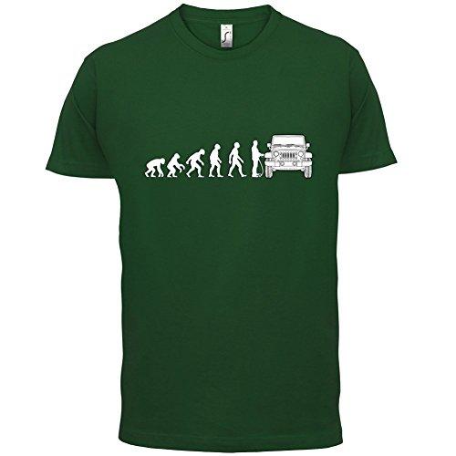 Evolution of Man - Jeep Fahrer - Herren T-Shirt - 13 Farben Flaschengrün