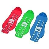 Dispositivo di Misura del Piede Misurazione Piede Misura Scarpe Calibro Piede Misuratore per 0-8 Anni Bambino, 3 Pezzi