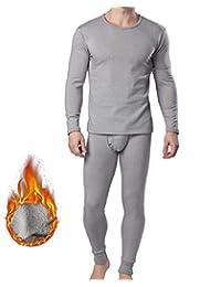 FZmix Herren Thermounterwäsche Set Thermounterhemden Thermo-Unterhosen Verdickte Ski Funktionsunterwäsche für Winter