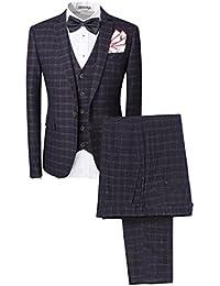 Traje para hombre 3 piezas chaqueta chaleco pantalón traje al estilo  occidental c816ae3c475