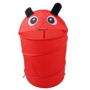 Gluckliy Nette Tier Aufbewahrung Wanne Nettes Knallen Oben Falten Speicher Wannen Spielzeug Wäscherei Zylinder Korb (Caterpillar)