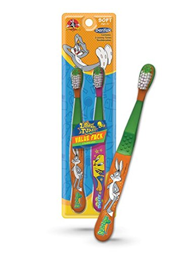dentek-looney-tunes-toothbrush-soft-2-count