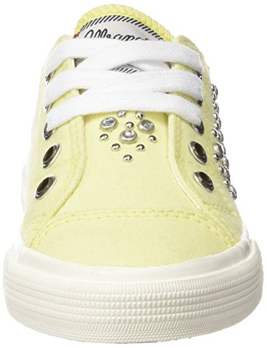 Wrangler Starry Low Studs, Baskets Basses fille Jaune - Gelb (72 LT.YELLOW)
