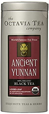 Octavia Tea Ancient Yunnan (Organic Black Tea), 2.65-Ounce Tin